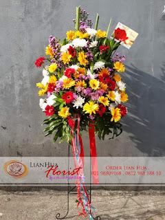 bunga standing flowers, bunga ucapan pernikahan, bunga ucapan selamat & sukses, congratulations flowers, toko bunga jakarta, bunga standing flowers murah di jakarta