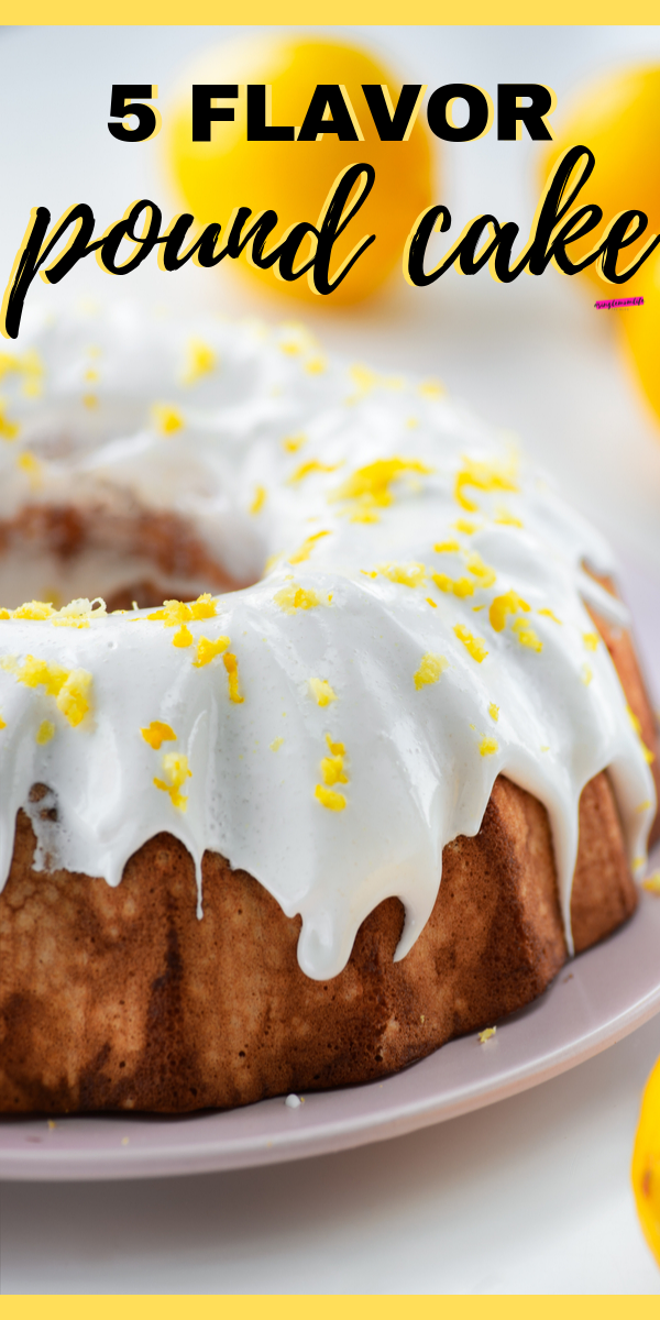 This Southern 5 Flavor Pound Cake recipe is the only way to make pound cake, really! Read on to see how to make it!