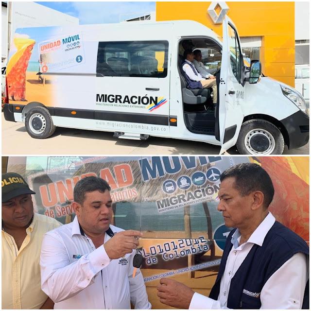 Unidad Móvil para los servicios migratorios entregó el alcalde Juan Carlos Suaza