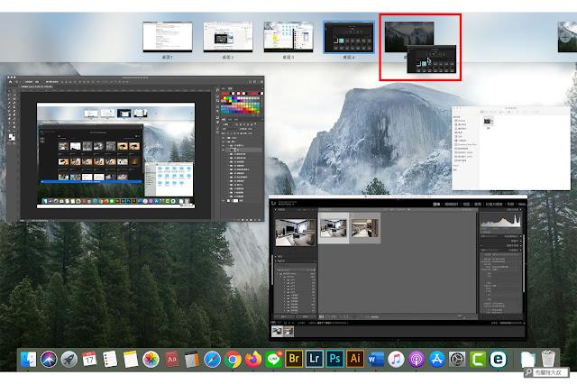 【MAC 幹大事】提升效率的多重桌面 / 分割顯示 - 置放應用程式至新桌面