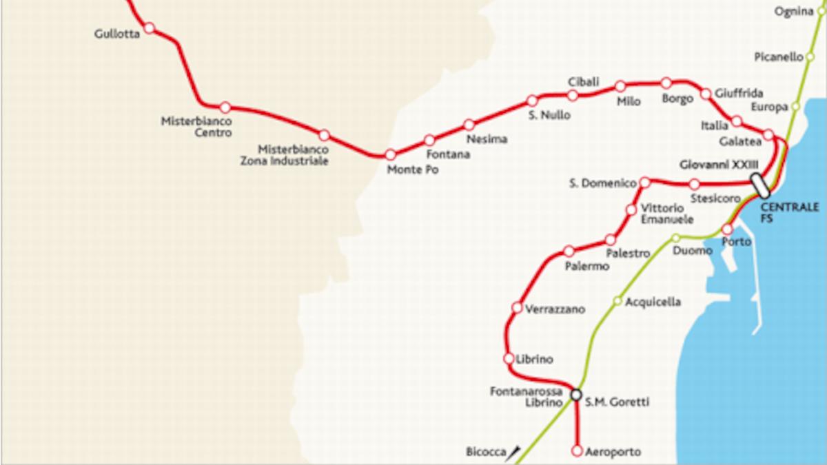 Tratta metropolitana di Catania Stesicoro-Aeroporto