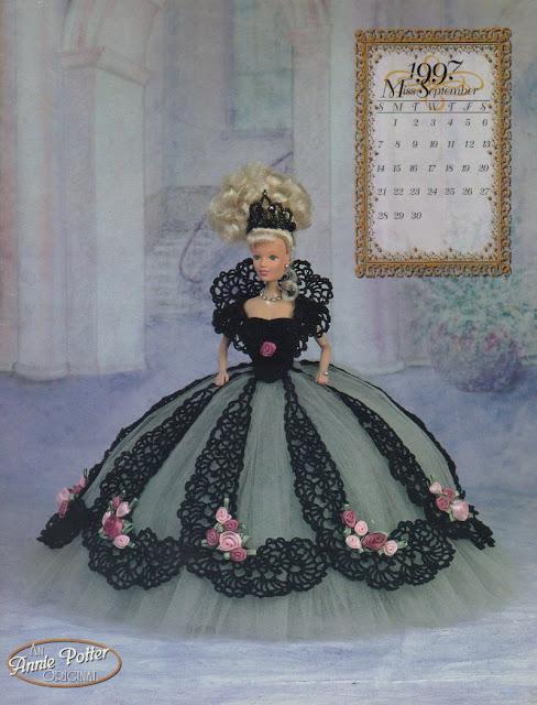 PAPs Com Gráficos de  Roupas de Crochê Para Barbie