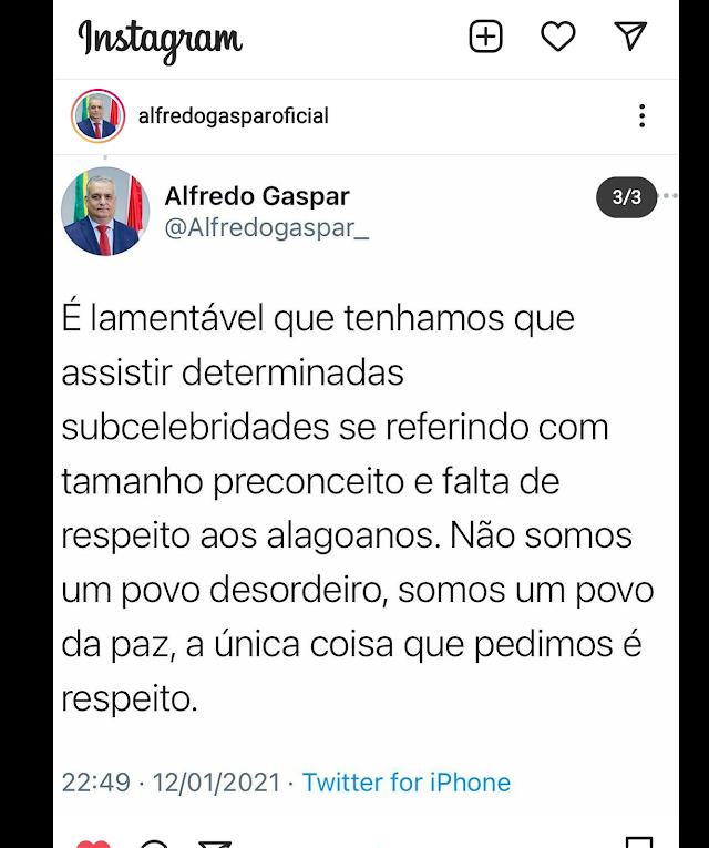 Após repercussão generalizada da agressão que sofreu o ator Henri Castelli em Alagoas chefe de segurança pública se pronuncia