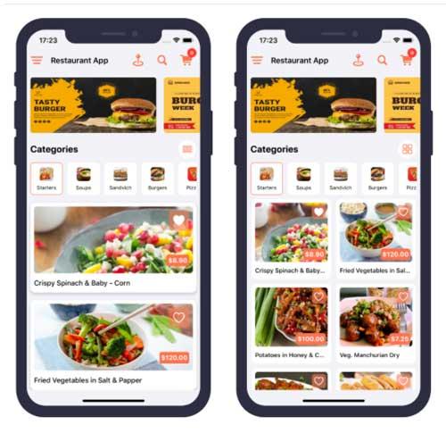 Single restaurant food ordering app ios