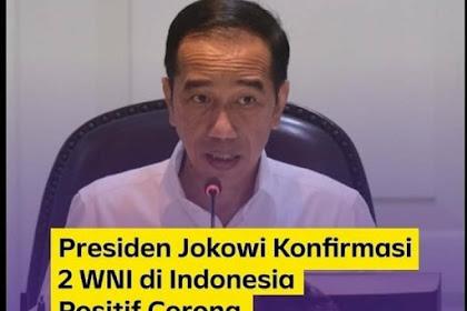 Ka Musibah, Jokowi: 2 Droe Awak Indoneh Ka Positif Keunöng Corona