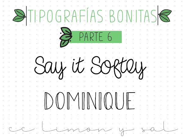 TIPOGRAFÍAS BONITAS PARTE 6