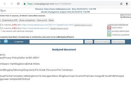 Hati hati copy-paste blog sendiri: Editblogtema plagiat level 4,7%