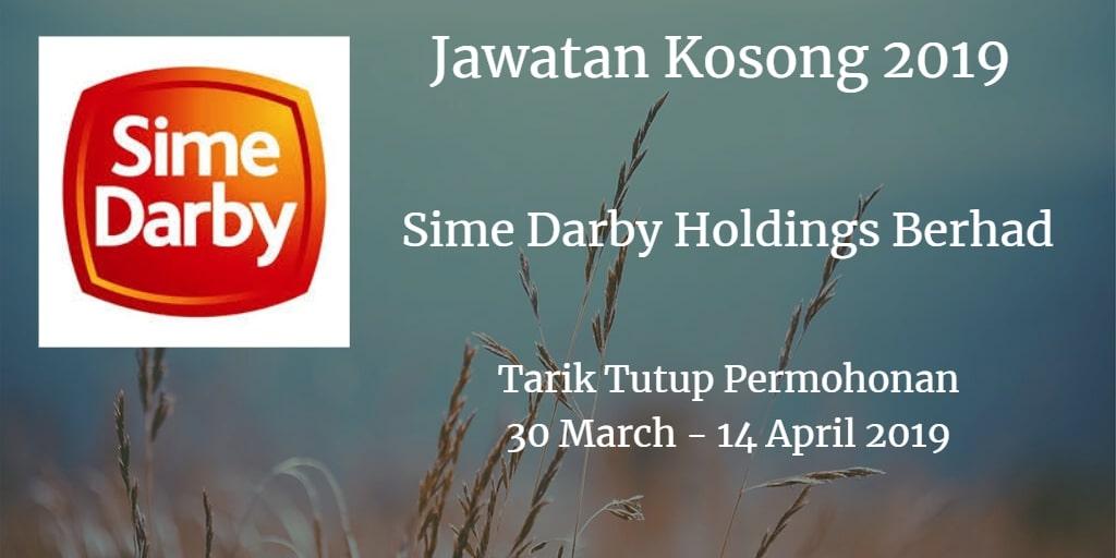 Jawatan Kosong Sime Darby Holdings Berhad 30 March  - 14 April 2019