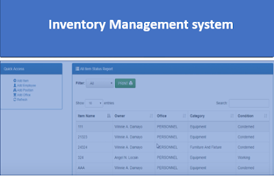 Online Inventory Management System in PHP with Source Code