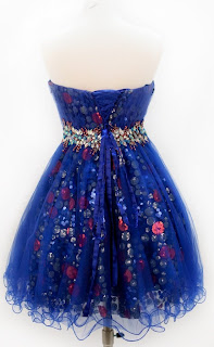 blue short sweet 16 sixteen dresses