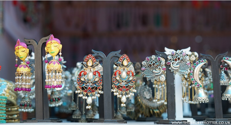 Jewellery stalls at Shilparamam
