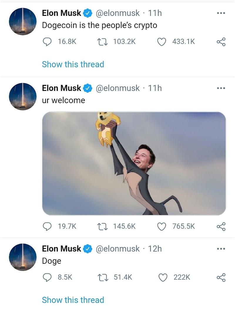 Elon Musk kembali ke Twitter dan inilah mengapa tweetnya mendorong Dogecoin 50% lebih tinggi