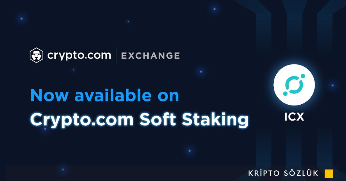 ICON (ICX) Artık Crypto.com Soft Staking'de