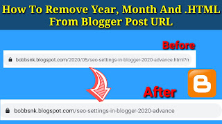 How To Remove Year, Month And .HTML From Blogger Post URL