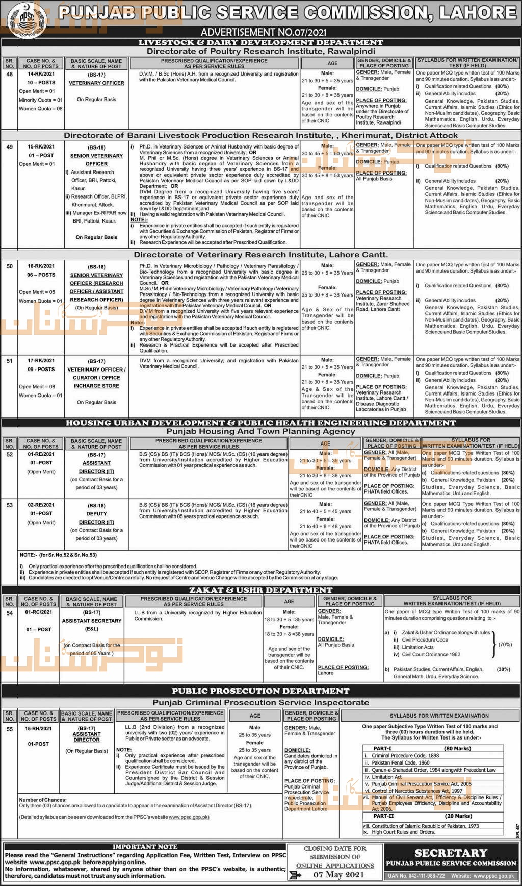 government,punjab public service commission ppsc,multiple positions,latest jobs,last date,requirements,application form,how to apply, jobs 2021,