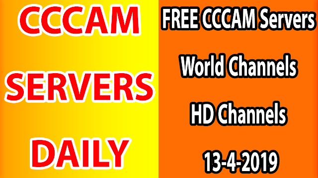 FREE CCCAM Servers World Channels +Sport HD Channels 13-4-2019