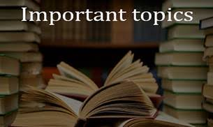 IMPORTANT TOPICS FOR UPSC PRELIMS 2017