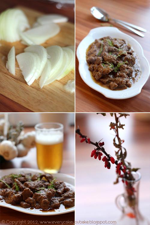 wołowina duszona w piwie - belgijski gulasz Carbonnade a la Flamande
