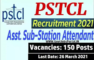 150 PSTCL Sub Station Attendant Recruitment 2021 / ITI Jobs in Punjab