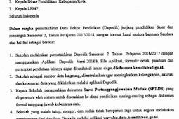 Informasi Pemutakhiran Dapodik Semester 2 Tahun Pelajaran 2017/2018