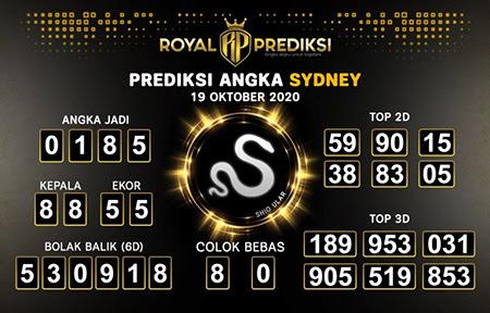 Royal Prediksi Sidney Senin 19 Oktober 2020
