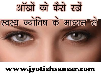 jyotish aur aankhe