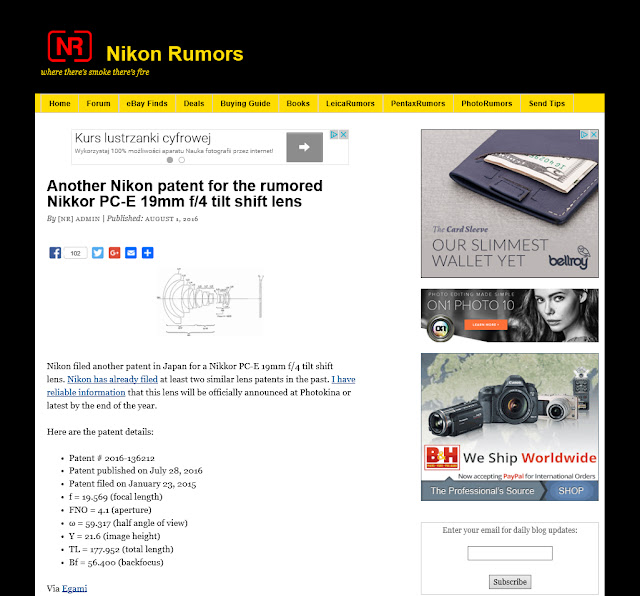 http://nikonrumors.com/2016/08/01/another-nikon-patent-for-the-rumored-nikkor-pc-e-19mm-f4-tilt-shift-lens.aspx/