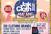 Jakcloth Goes To Malang 27 Februari - 1 Maret 2020 At Lapangan Rampal