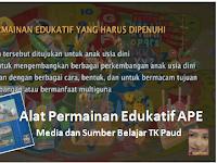 Alat Peraga Edukatif APE | Media dan Sumber Belajar TK Paud