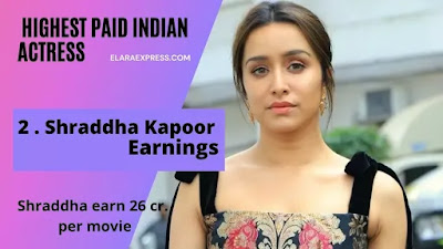 Shraddha Kapoor Charges per movie