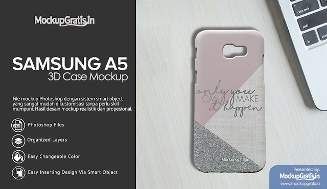 PSD Mockup Gratis Custom Case Samsung Galaxy A5 (2017)