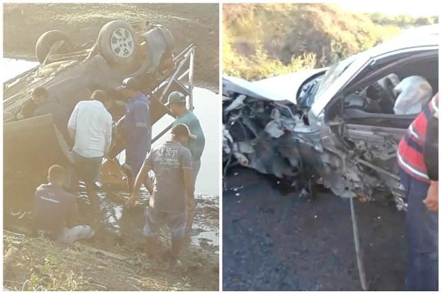Vídeo: Acidente é registrado na PB-323, entre Brejo dos Santos e Catolé do Rocha