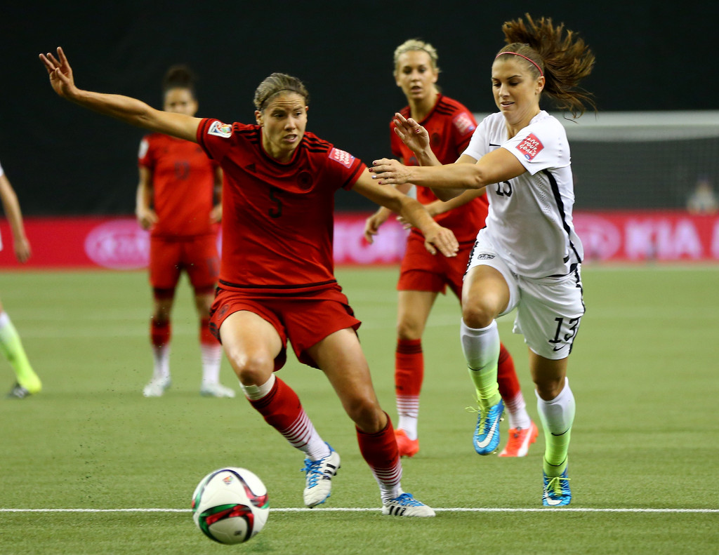 Alex Morgan plays the USA vs Germany FIFA Women's World Cup Semi-Final 2015