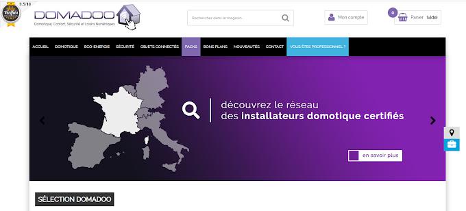 Domadoo, le très bon site de vente en ligne de matériels domotiques nous référence
