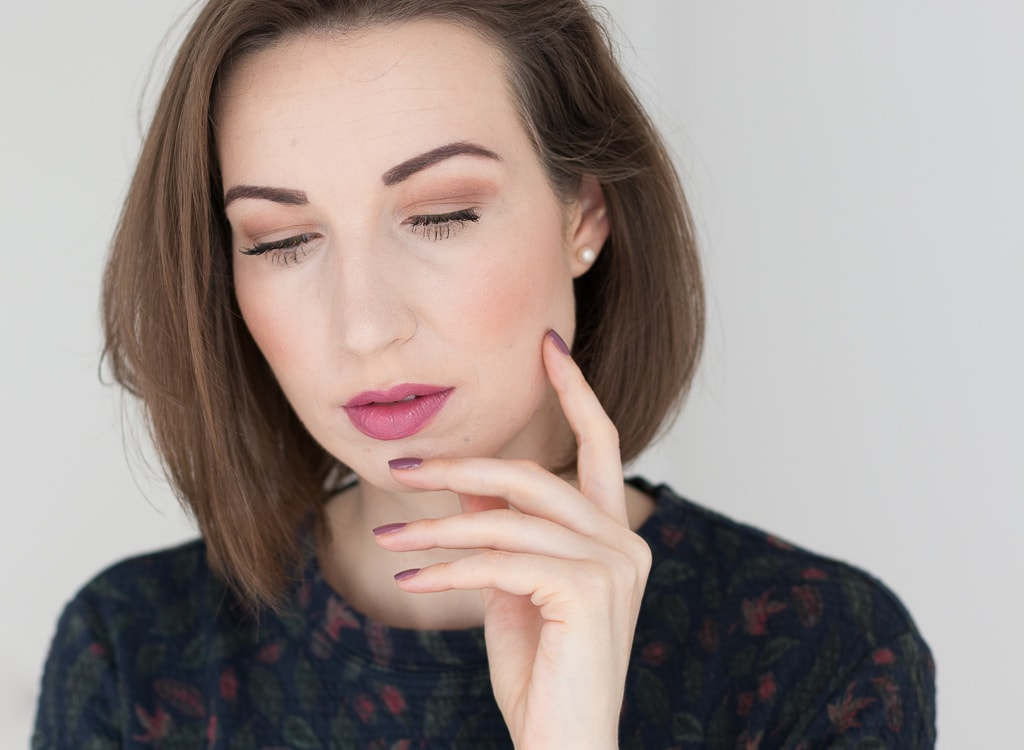 Blogparade Top 3 Herbst Lippenstifte Clinique Plum Pop
