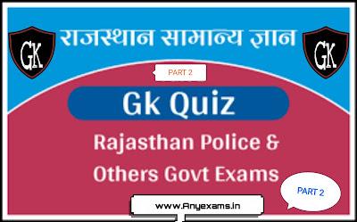 Rajasthan general knowledge quiz