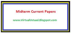 BT405 Midterm Current Paper 16 Dec 2017
