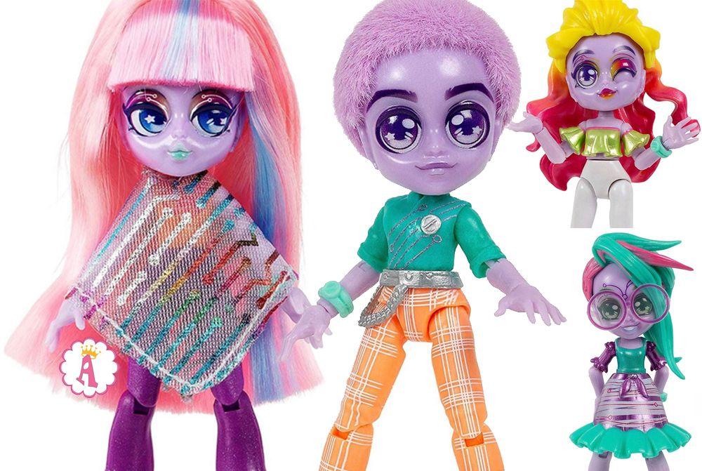 Куклы Capsule Chix с прошитыми волосами и мальчик Капсул Чикс
