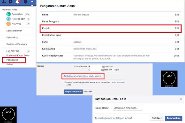Cara Mengganti Email Facebook Lewat PC #1
