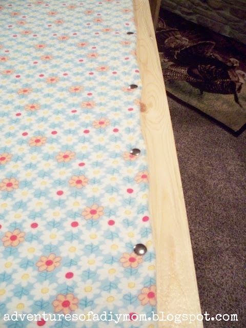 attaching the blanket to quilt frames