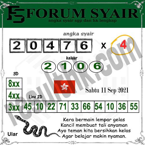 Forum syair hk Sabtu 11 September 2021