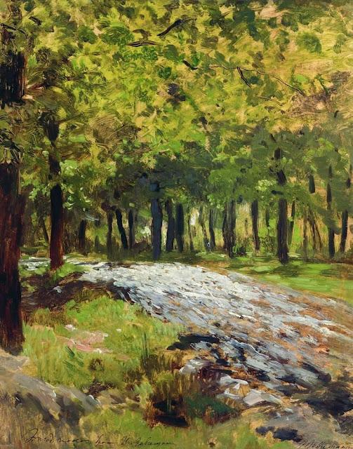 Исаак Ильич Левитан - Дорога в лесу. 1880-е