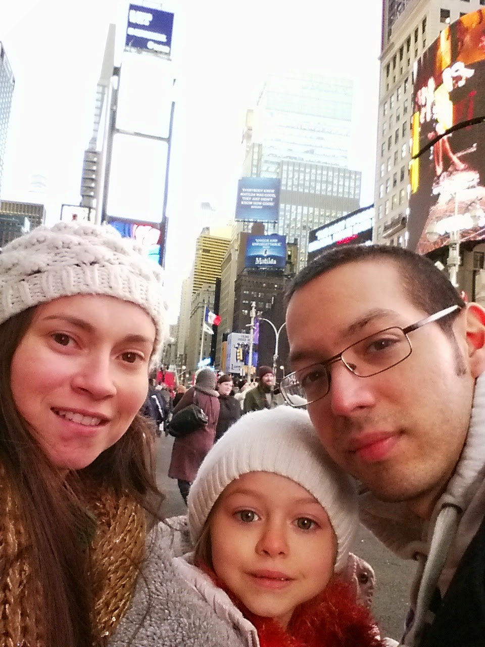 time square selfie