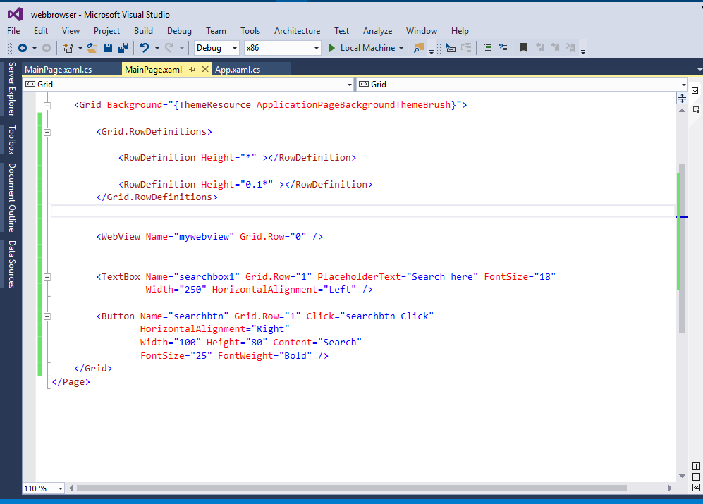 View Web Pages Using WebView In UWP