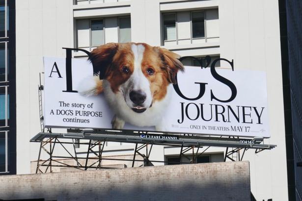 A Dogs Journey movie billboard