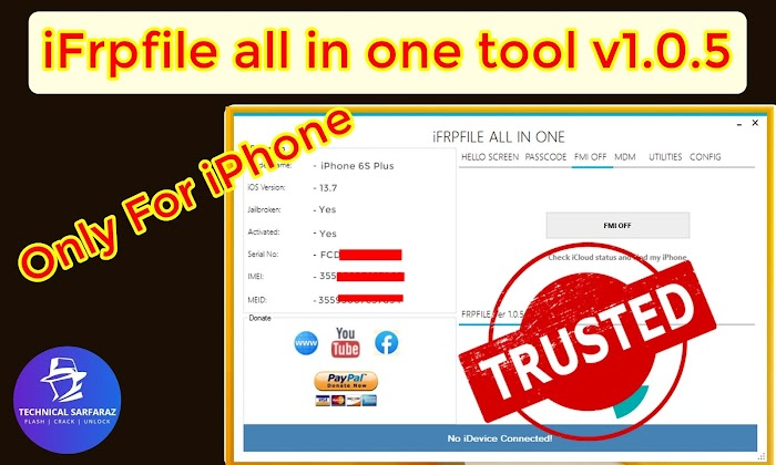 iFrpfile All In One iCloud tool  v1.0.5 and v1.0.6