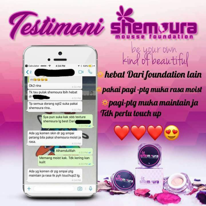 Testimoni Shemoura Mousse Foundation Dengan Argan Oil