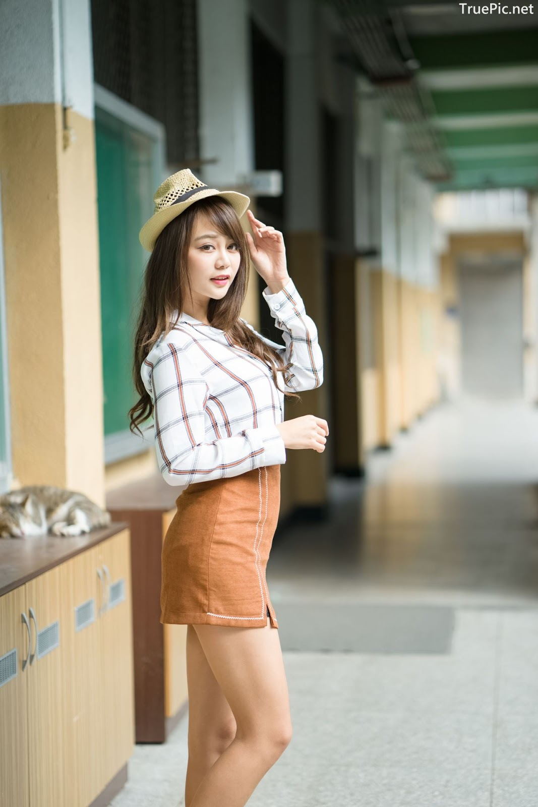 Image-Taiwan-Social-Celebrity-Sun-Hui-Tong-孫卉彤-A-Day-as-Student-Girl-TruePic.net- Picture-9