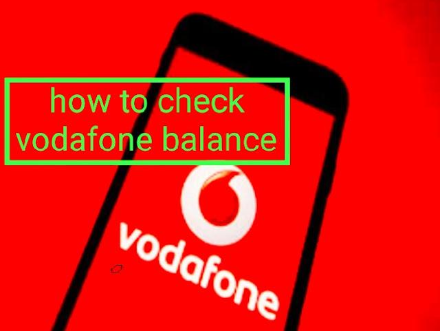 how to check vodafone balance