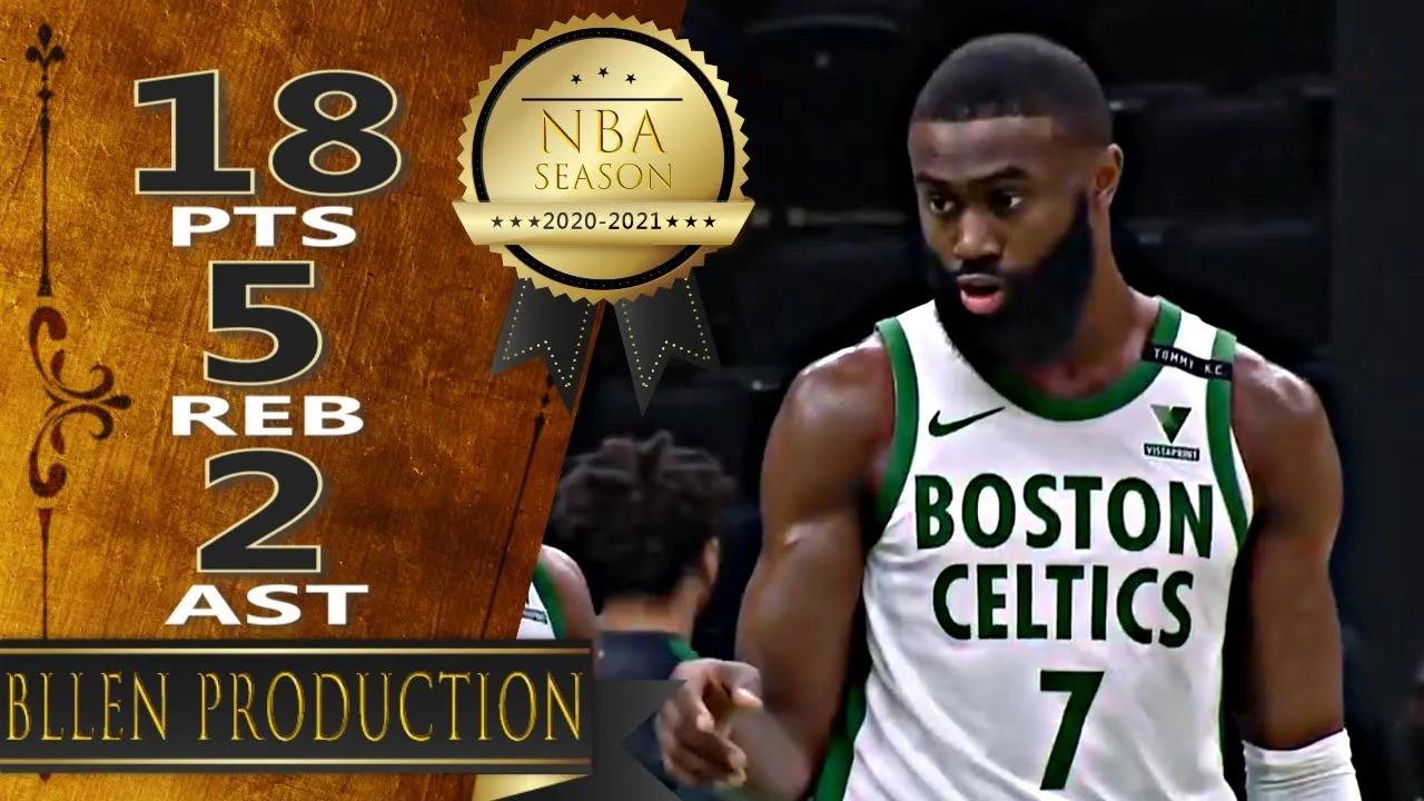 Jaylen Brown 18pts 5reb vs LAC   March 2, 2021   2020-21 NBA Season